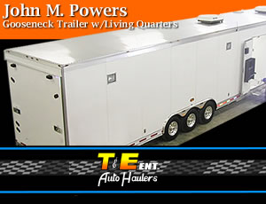 John Powers 2005 T&E  Gooseneck Trailer with Living Quarters