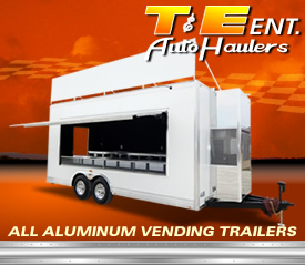 Custom Vending Trailers by T and E Auto Haulers
